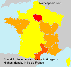 Surname Zeiler in France