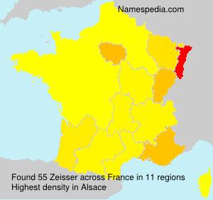Surname Zeisser in France