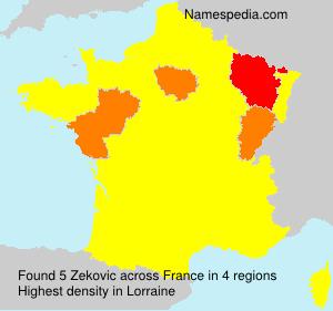 Familiennamen Zekovic - France
