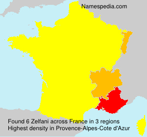 Surname Zelfani in France