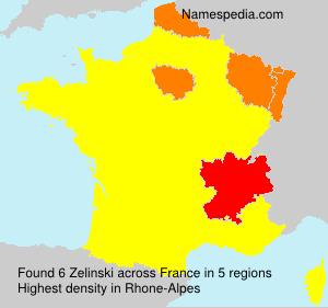 Familiennamen Zelinski - France