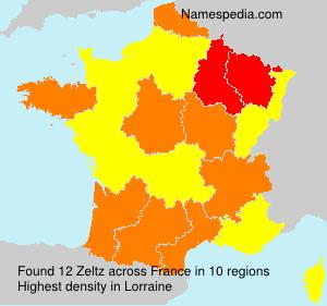 Familiennamen Zeltz - France