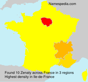 Surname Zenaty in France