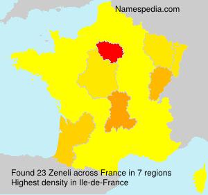 Surname Zeneli in France
