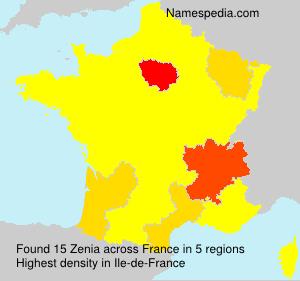Surname Zenia in France