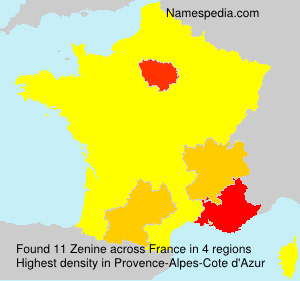Surname Zenine in France