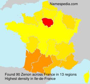 Surname Zenon in France