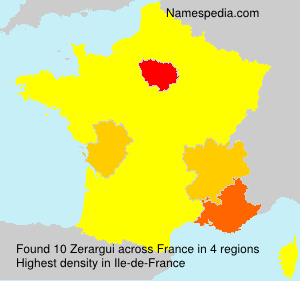 Surname Zerargui in France
