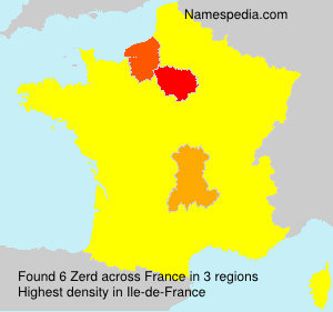Surname Zerd in France
