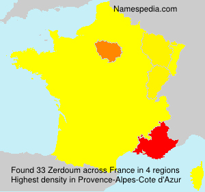 Surname Zerdoum in France