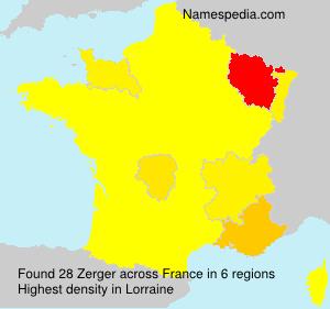 Surname Zerger in France
