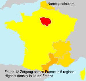 Surname Zergoug in France
