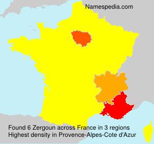 Surname Zergoun in France
