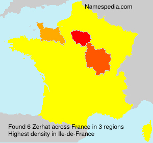 Surname Zerhat in France