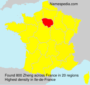 Surname Zheng in France