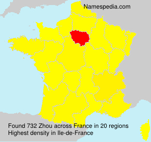 Surname Zhou in France