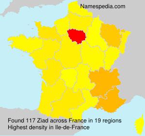 Familiennamen Ziad - France