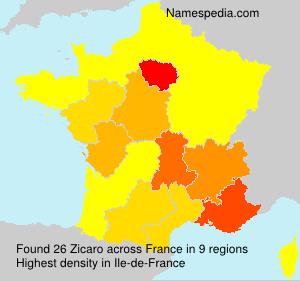 Familiennamen Zicaro - France