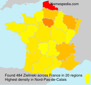 Surname Zielinski in France