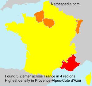 Surname Ziemer in France