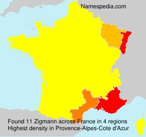 Surname Zigmann in France
