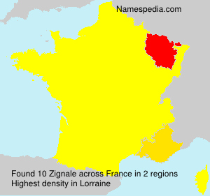 Surname Zignale in France