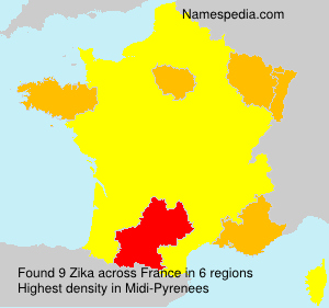 Surname Zika in France