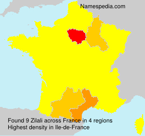 Surname Zilali in France