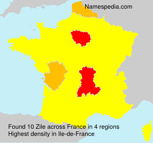 Surname Zile in France
