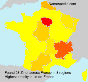 Surname Zinet in France