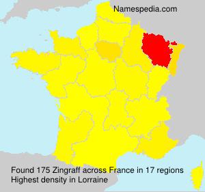 Surname Zingraff in France
