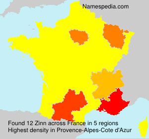 Familiennamen Zinn - France