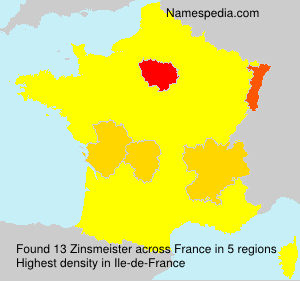 Surname Zinsmeister in France