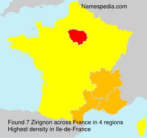 Surname Zirignon in France