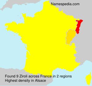 Surname Ziroli in France