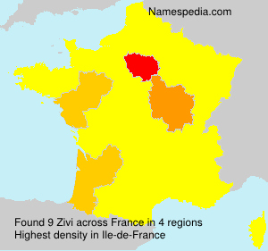 Surname Zivi in France