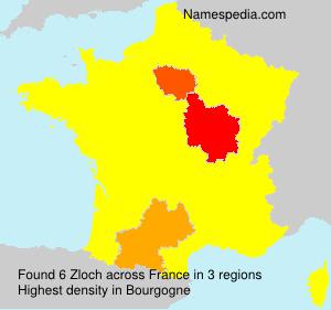 Familiennamen Zloch - France