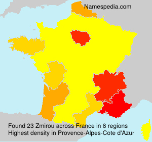 Surname Zmirou in France