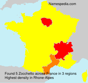 Surname Zocchetto in France