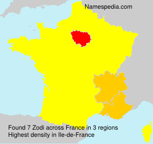 Surname Zodi in France