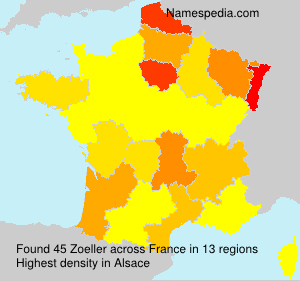 Surname Zoeller in France
