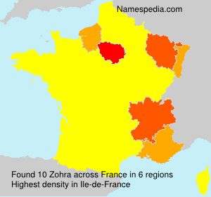 Surname Zohra in France