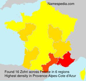 Surname Zohri in France