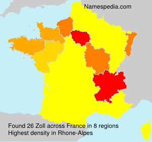 Surname Zoll in France