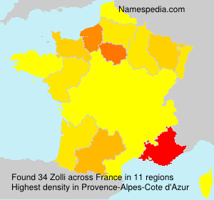 Surname Zolli in France