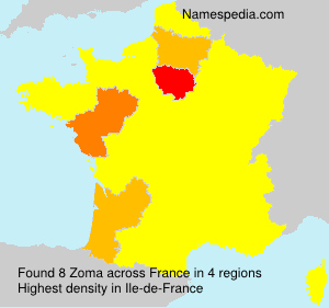 Familiennamen Zoma - France