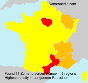 Surname Zomeno in France