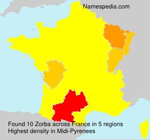 Familiennamen Zorba - France