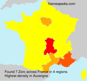 Surname Zorc in France