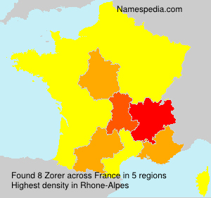 Surname Zorer in France